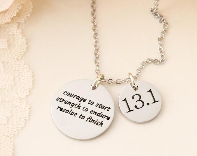 Marathon inspiration! Half marathon inspiration necklace! Runners inspiration!