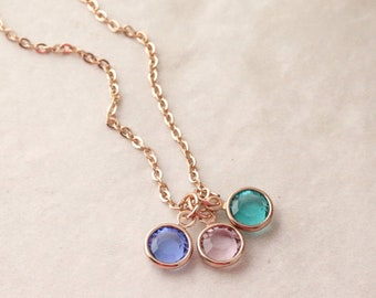 Mothers Birthstone Necklace - Birthstone Jewelry for Mom - Personalized Mom Necklace - Kids Birthstone Necklace Birthstone Necklace for Mom