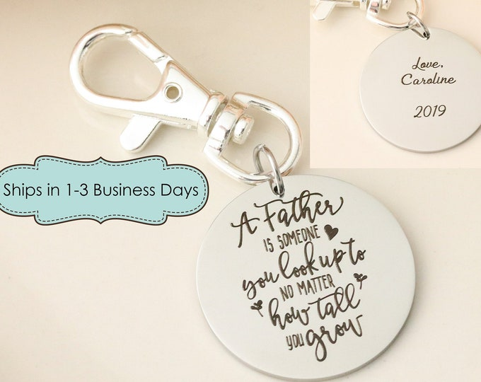 Father of the Bride Keychain - Gift for Father of the Bride - Keychain for Dad - Personalized Keychain for Dad - Wedding gift for Dad