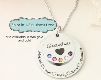 Personalized Necklace for Grandma - Necklace with Grandchildrens Names - Personalzied Grandma Gift - Nana Necklace - Abuela Necklace