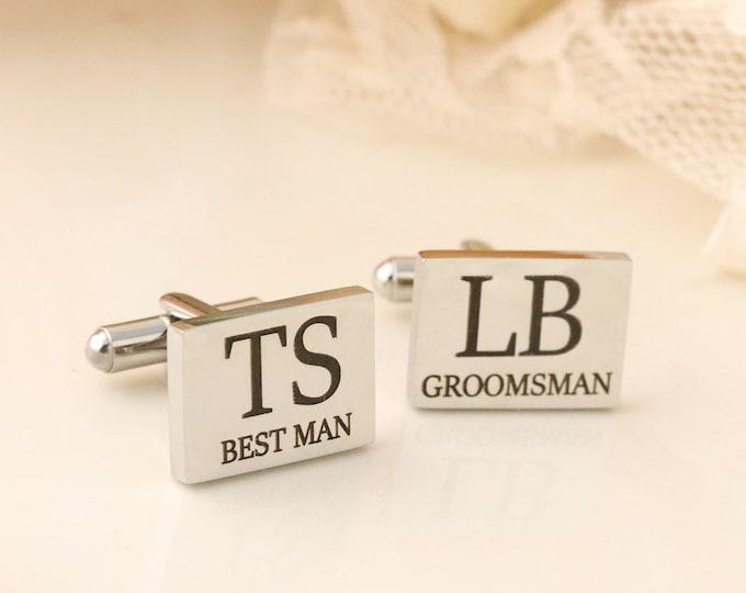 Cufflinks for Groomsman - Cufflinks for Best Man - Bridal Party Cufflinks - Wedding Cufflinks - Cufflinks for Men - Gift For Groomsmen