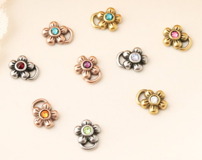 Add a Birthstone Flower to a Necklace or Bracelet