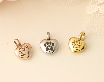 Add a Paw Print Urn to Any Memorial Necklace or Bangle