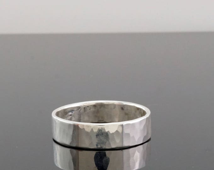 Hammered Sterling Silver Ring - Sterling Silver Ring Band - Sterling Silver wedding band - wedding band for husband - gift for husband