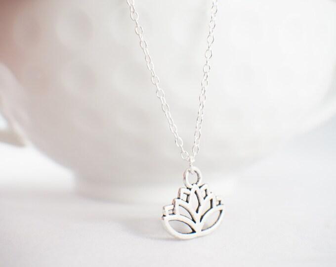 Lotus Flower Necklace - Yoga Jewelry - Yoga wear - meditation wear - lotus necklace