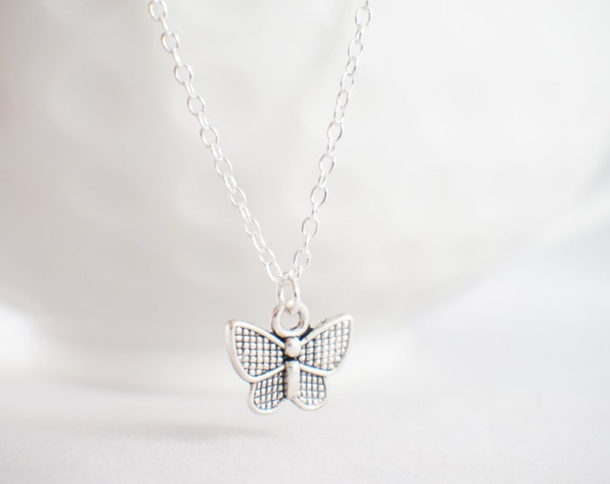 Butterfly necklace - butterfly jewelry - sterling butterfly - butterfly charm