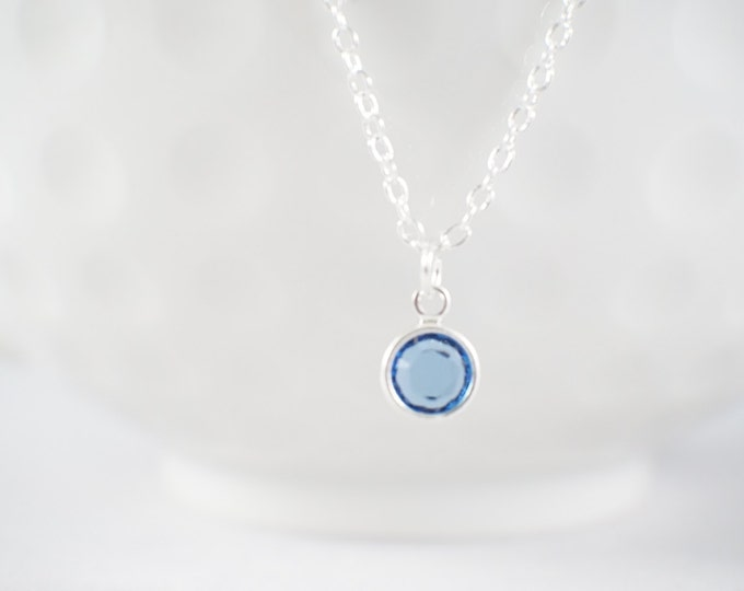 Tiny Birthstone Necklace - Dainty birthstone - Birthday gift - gift for her