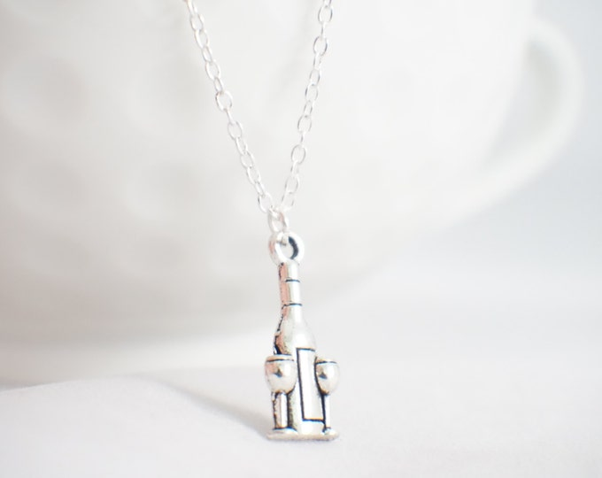 Wine Bottle Jewelry - wino jewelry - i love wine - wine gift - wine lover - wine jewelry - gift for wino - vineyard gift