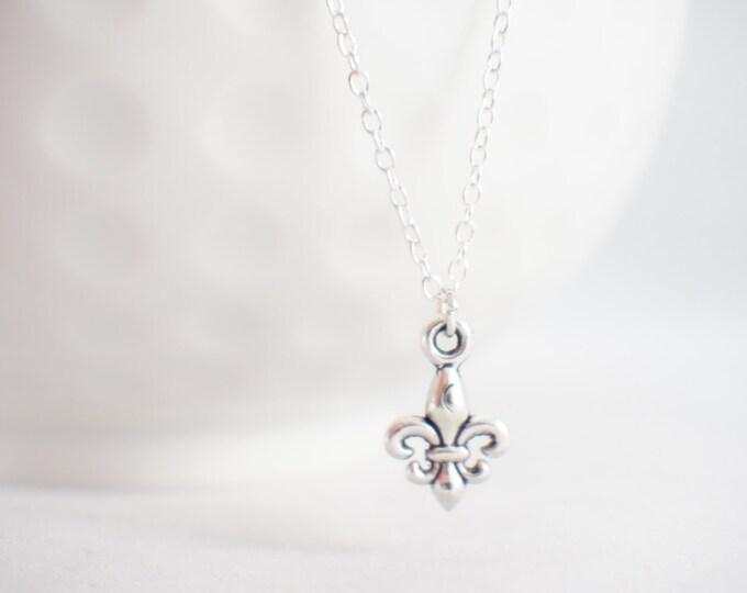 Eiffel Tower necklace - eiffel jewelry - eiffel necklace - Fluer De Lis - Fleur De Lis Necklace