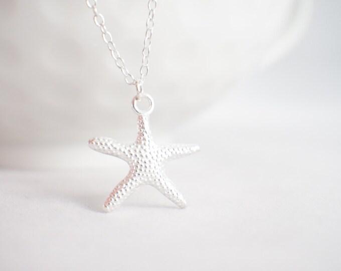 Starfish necklace - starfish pendnat - star fish jewelry - star fish - sea jewelry - beach jewelry - gift for her - beach lover