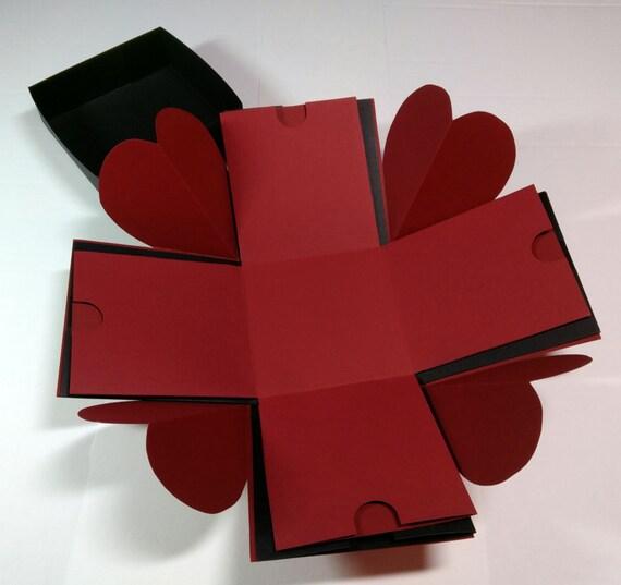 Explosion Box Exploding Box Love Explosion Box Hearts Etsy