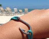 Turquoise Fish Hook Paracord Bracelet