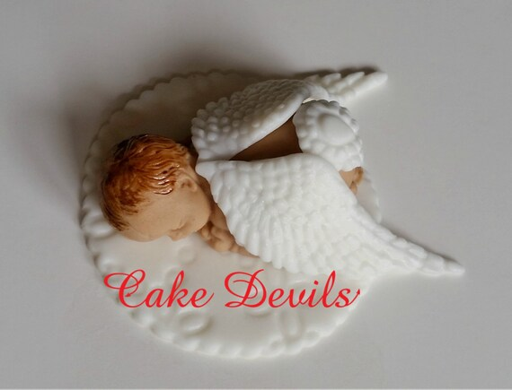 Angel Sleeping Baby Cake Topper Angel Baby Shower Naked Etsy