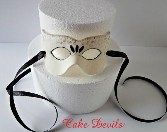 Masquerade Mask Cake Topper Fondant Masquerade Mask Handmade Magnificent Decorate Masquerade Mask