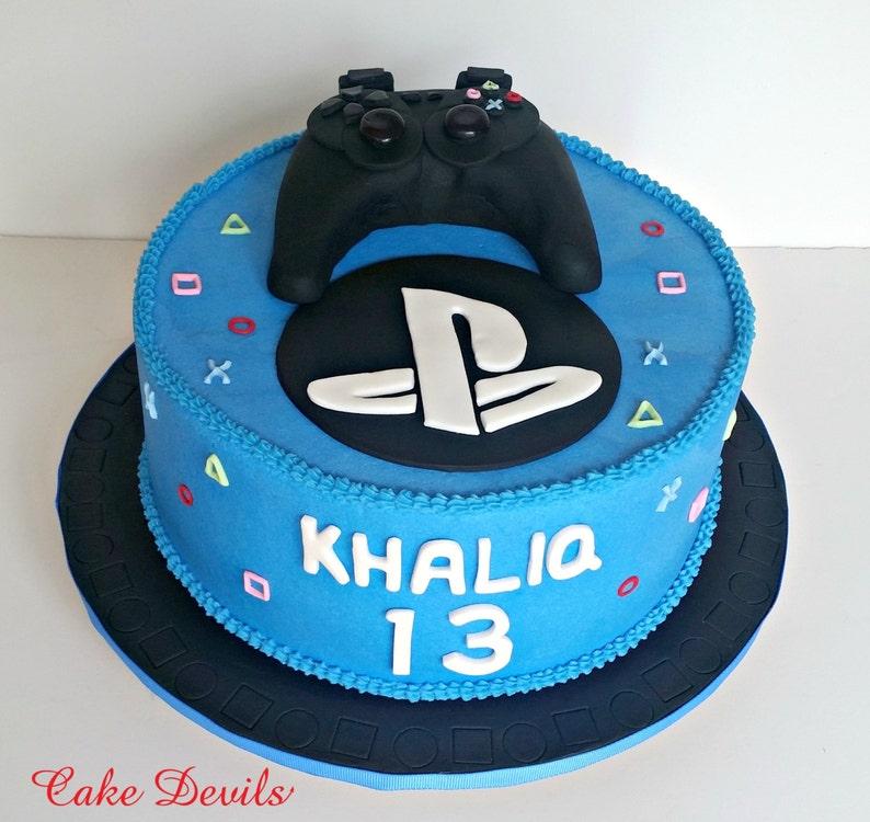 Video Game Controller Fondant Cake Topper Gaming Birthday