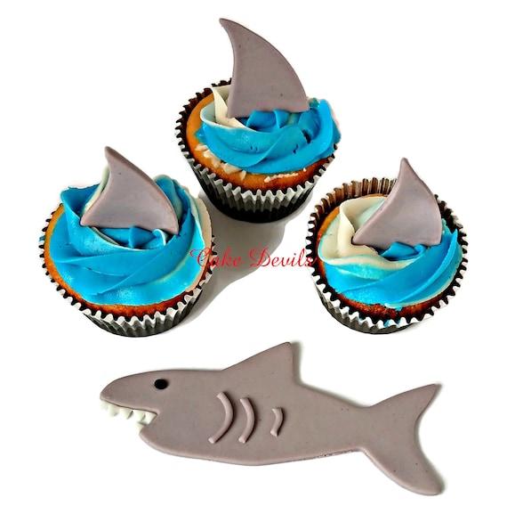 Shark Cookie Cutter Parfait pour cookies /& Fondant Cupcake//Gâteau Décoration