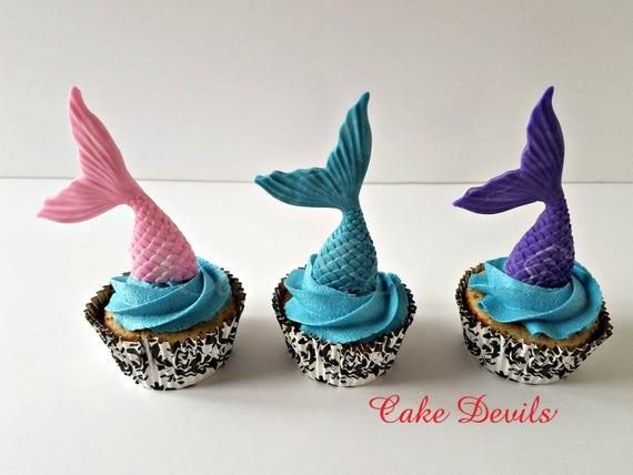 Home & Garden Mermaids Under The Sea Edible Cake Topper Image Cake Decoration Mermaid Cupcakes