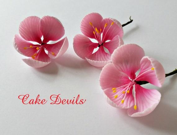 Blossom Cake Topper Flowers Gumpaste Cherry Blossom Flowers