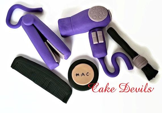 Beauty Salon Fondant Cake Toppers, Hairdresser Cake ...