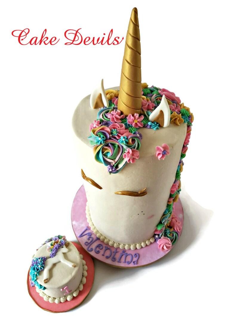 Fondant Unicorn Horn Cake Topper Kit Handmade