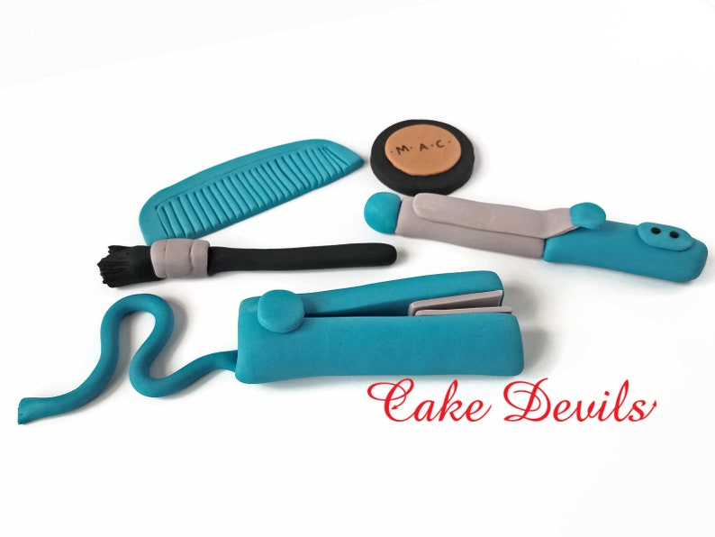 Hairdresser Cake Decorations Makeup Cake Beauty Salon Etsy