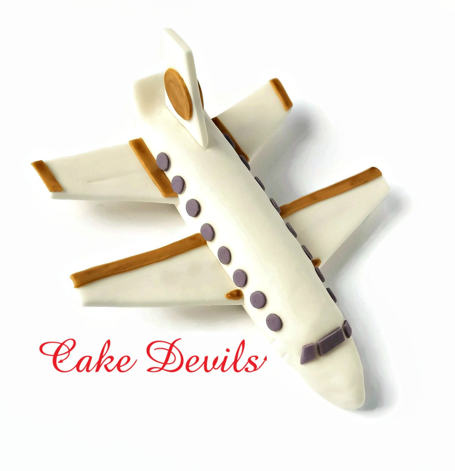 Jet Plane Fondant Cake Topper Airplane Cake Decorations | Etsy