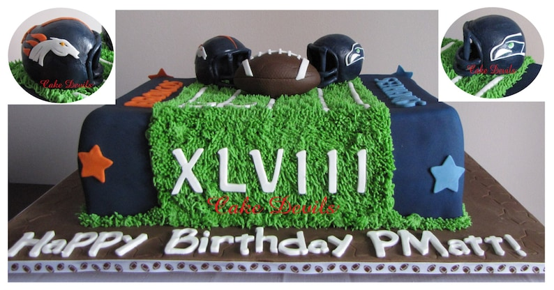 Football Theme Cake Topper Kit Fondant