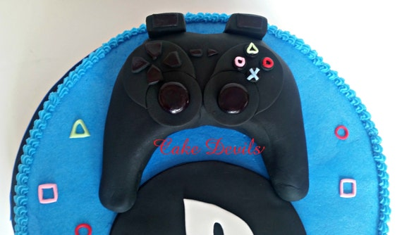 Video Game Controller Fondant Cake Topper Gaming Birthday Decorations Handmade Edible Party