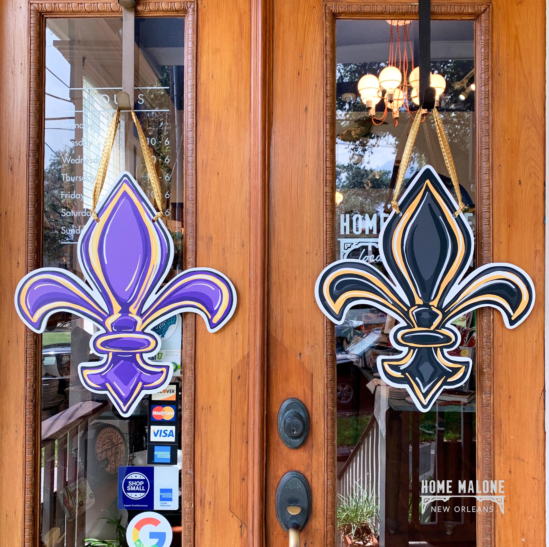 SAINTS Louisiana Fleur-De-Lis Necklace and Earring Set LSU TIGERS