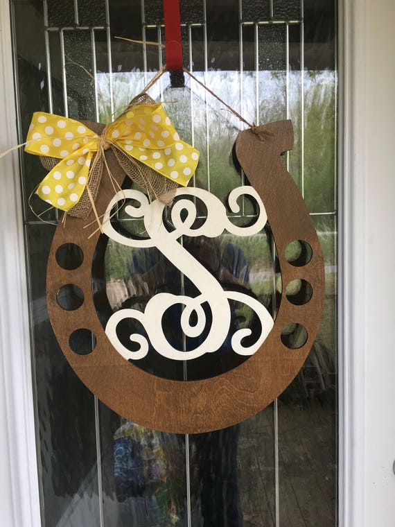 Beau Horseshoe Door Hanger Door Hanger Country Door Hanger | Etsy