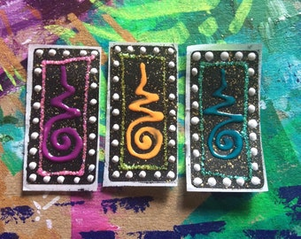 Handpainted unalome sparkly decorative stickers