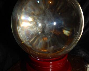 LARGE Genuine CLEAR QUARTZ Sphere - 6+ Pound Clear Quartz Orb - 130mm Gemstone Sphere - Metaphysical Crystals - Meditation - Scrying Ball