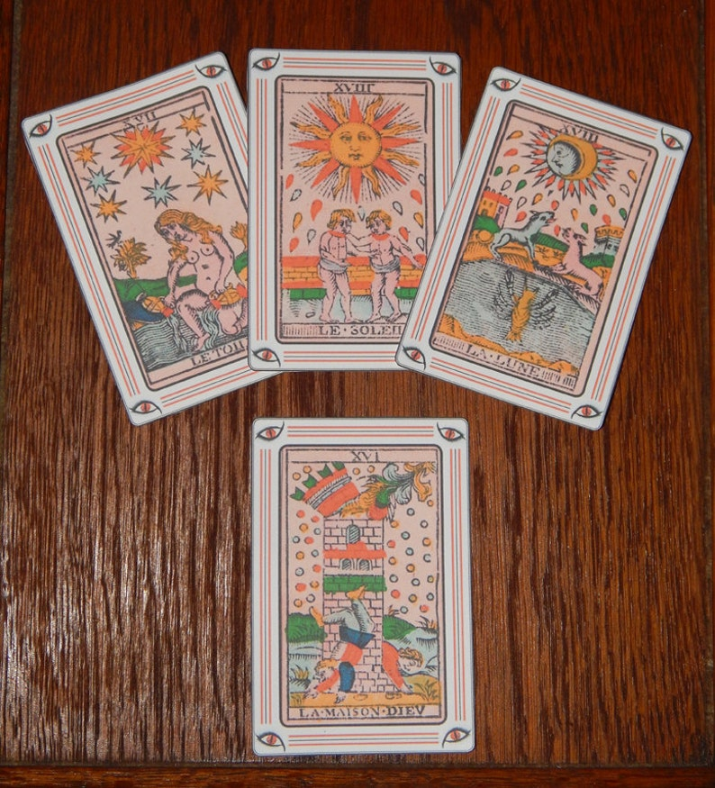 photograph relating to Printable Tarot known as Print Your Personalized Tarot Playing cards - Printable Tarot Playing cards - Complete 78 Card Deck Offering the Tarot de Milles - Solitary Card and Multi Card Webpages