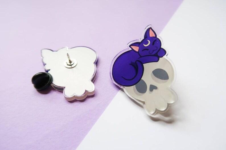 Sailor Moon Luna Pin  moon pin  sailor moon cat pin  teen image 0