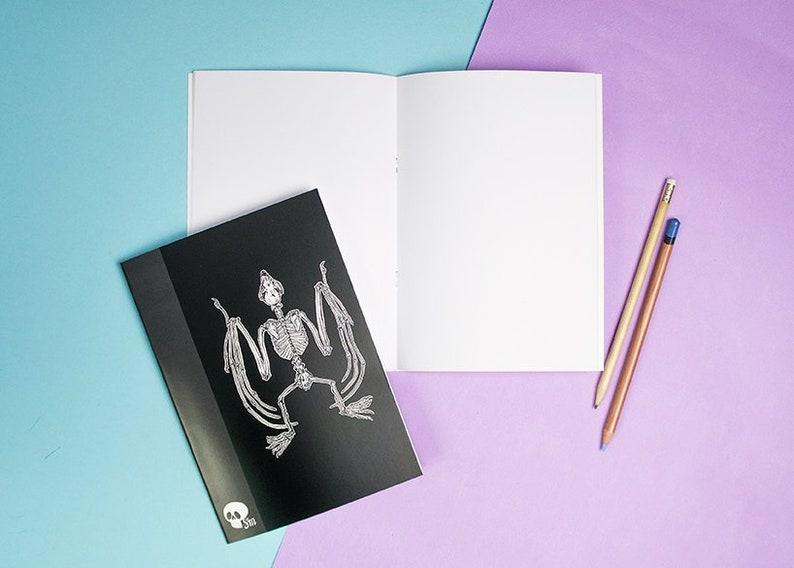 Notebook  Bat Skeleton  Notepad  Sketchbook  Note book  image 0