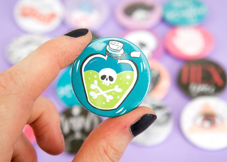 Potion Bottle Pin Badge  Witch Pin  Pastel goth  Teen image 0