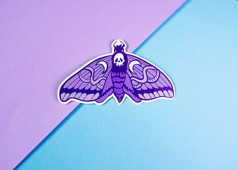 Death Head Moth sticker  planner stickers  cute stationary  image 0