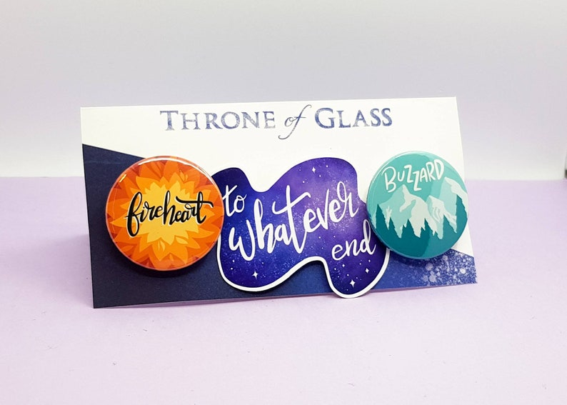 Throne of Glass pin pack  Sarah J Maas Bookish gifts  book image 0