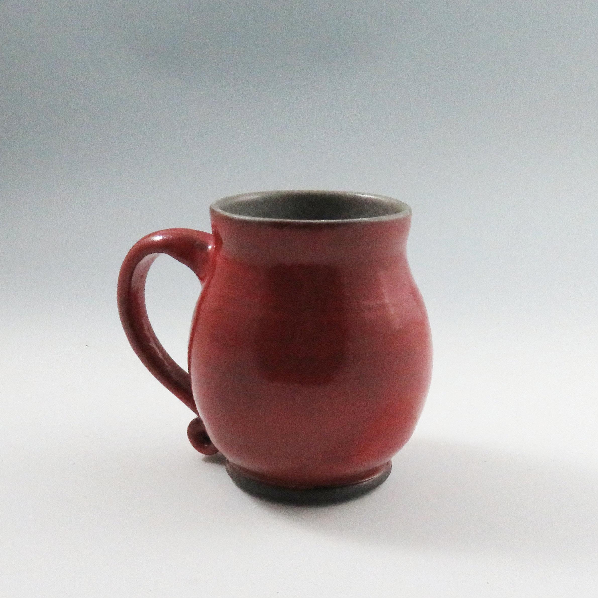 Red Pottery Mug Unique Ceramic Mugs Red Ceramic Mugs Handmade Ready To Ship Red Kitchen Decor Funky Pottery Mugs Soul Shine Pottery Tea Mug