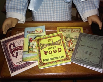 """Printable Victorian Fairy Tales 18"""" Dolls like American Girl School Supplies Accessories Historical  Book"""