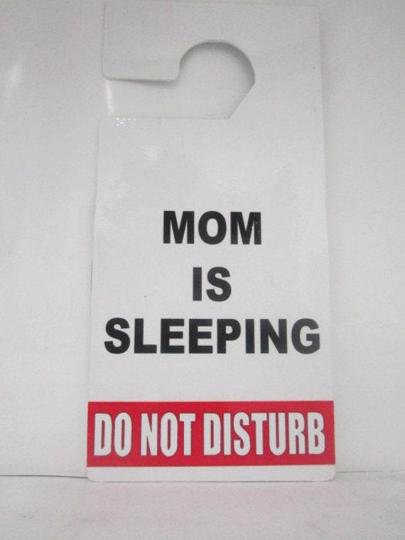 Do Not Disturb Grandpa Sleeping Plastic Door Knob Hanger Sign