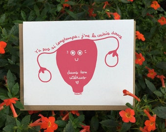 Seems like just yesterday I was chillin' in your uterus! <3 // Funky Mother's day card (Available in EN & FR)