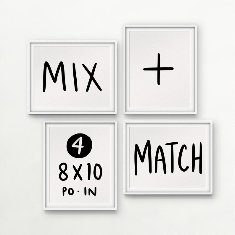 8X10 MIX & MATCH // Cheaper price when buying 4 Prints of your 4 imprimés / prints