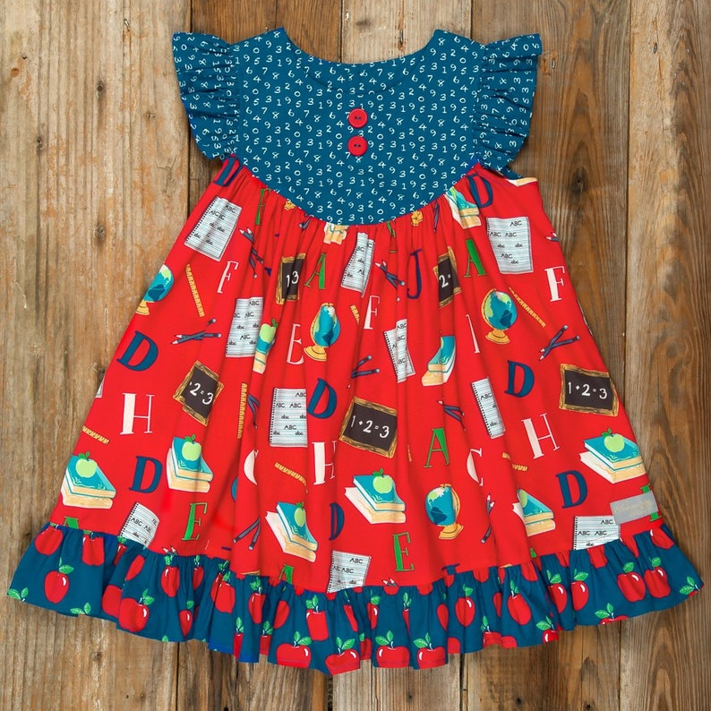 Schoolyard Fun Tassel Necklace-Red Blue Green-M2M Eleanor Rose-Back to School Tassel-Apple Tassel-Baby-Toddler-Girls