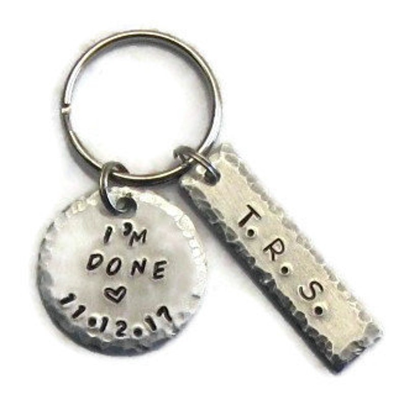 Custom hand stamped retirement gift for him or her image 0