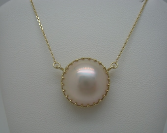 Mabe Pearl 14kt Gold Necklace