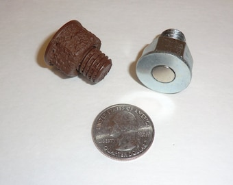 Magnetic NATURAL & RUSTY Micro Nano Bolt Geocache Containers - Cache Geocaching