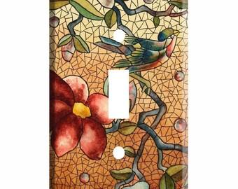 Bird Switch Plate Etsy