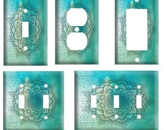 Green Mandala Plate Etsy