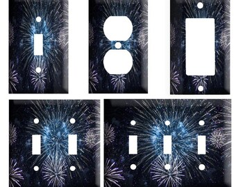 Fireworks Plate Etsy
